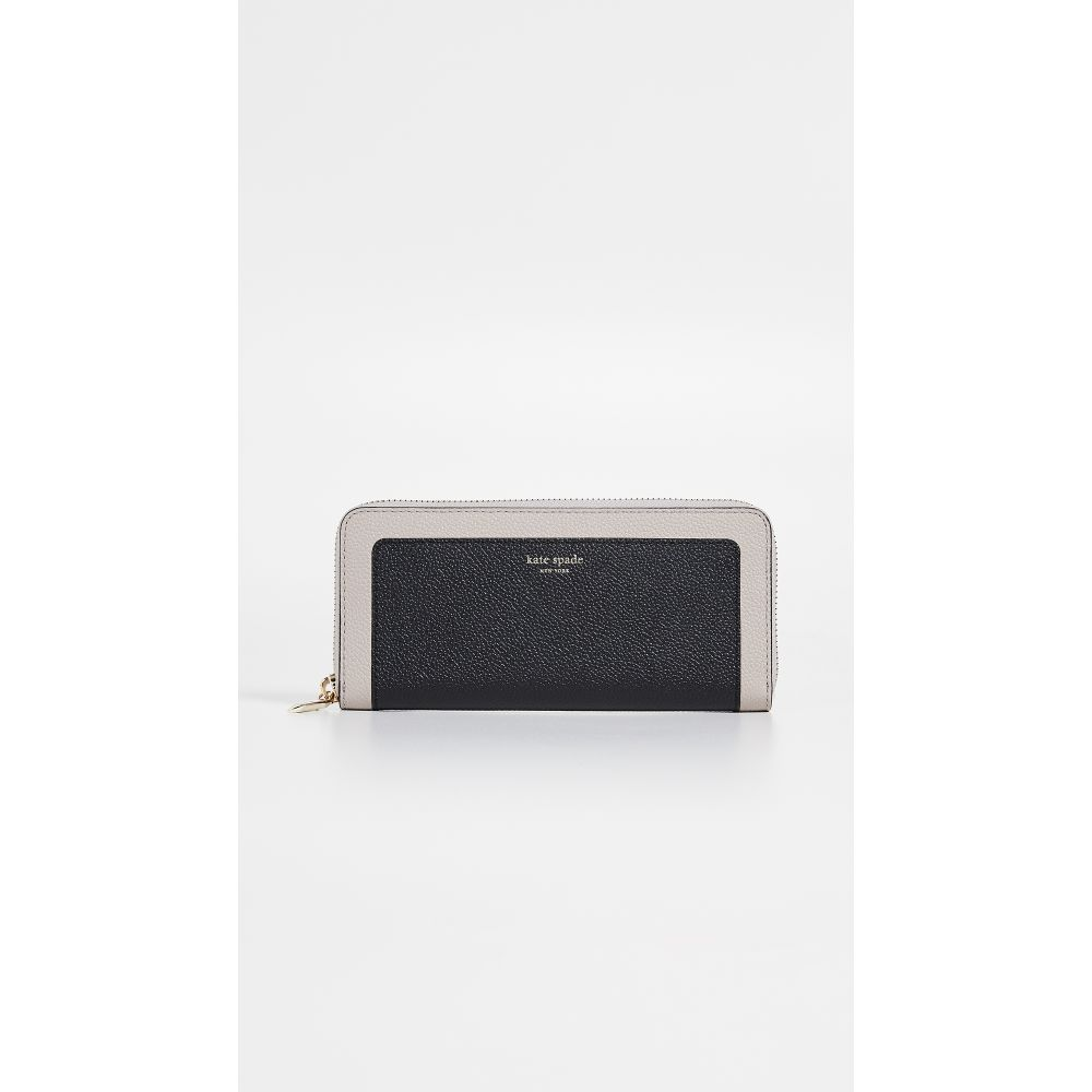 ケイト スペード Kate Spade New York レディース 財布【Margaux Slim Continental Wallet】Black/Warm Taupe
