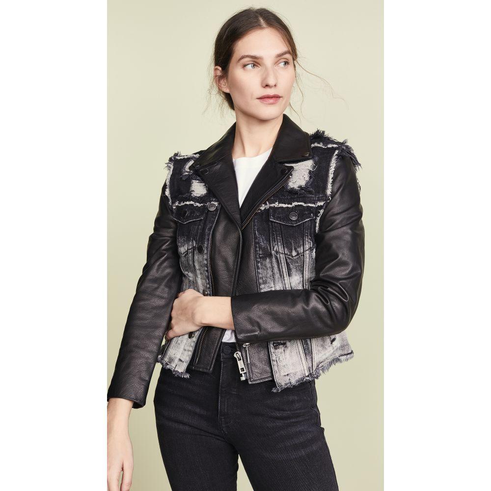 ジョセリン Jocelyn レディース トップス ベスト・ジレ【Denim Vest Leather Lab Jacket】Black