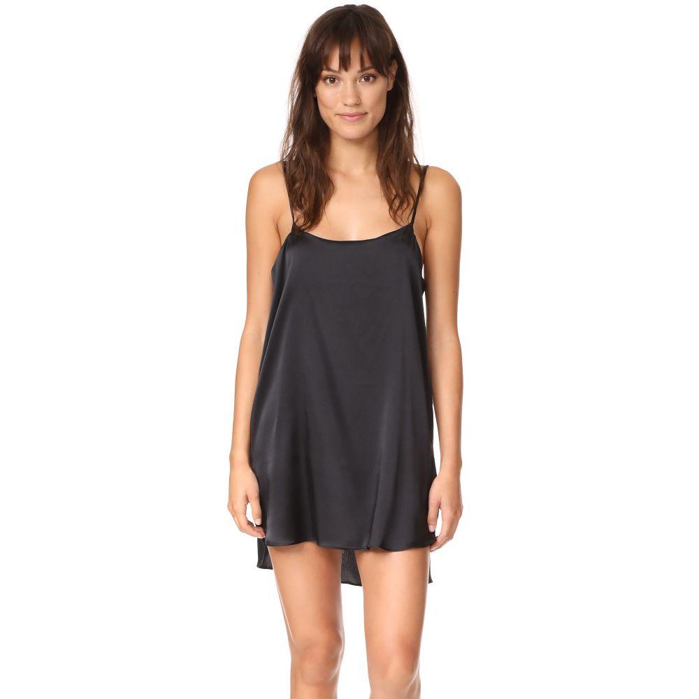 ヌドウェアー Nudwear レディース インナー・下着 スリップ・キャミソール【Mini Silk Slip Dress】Black