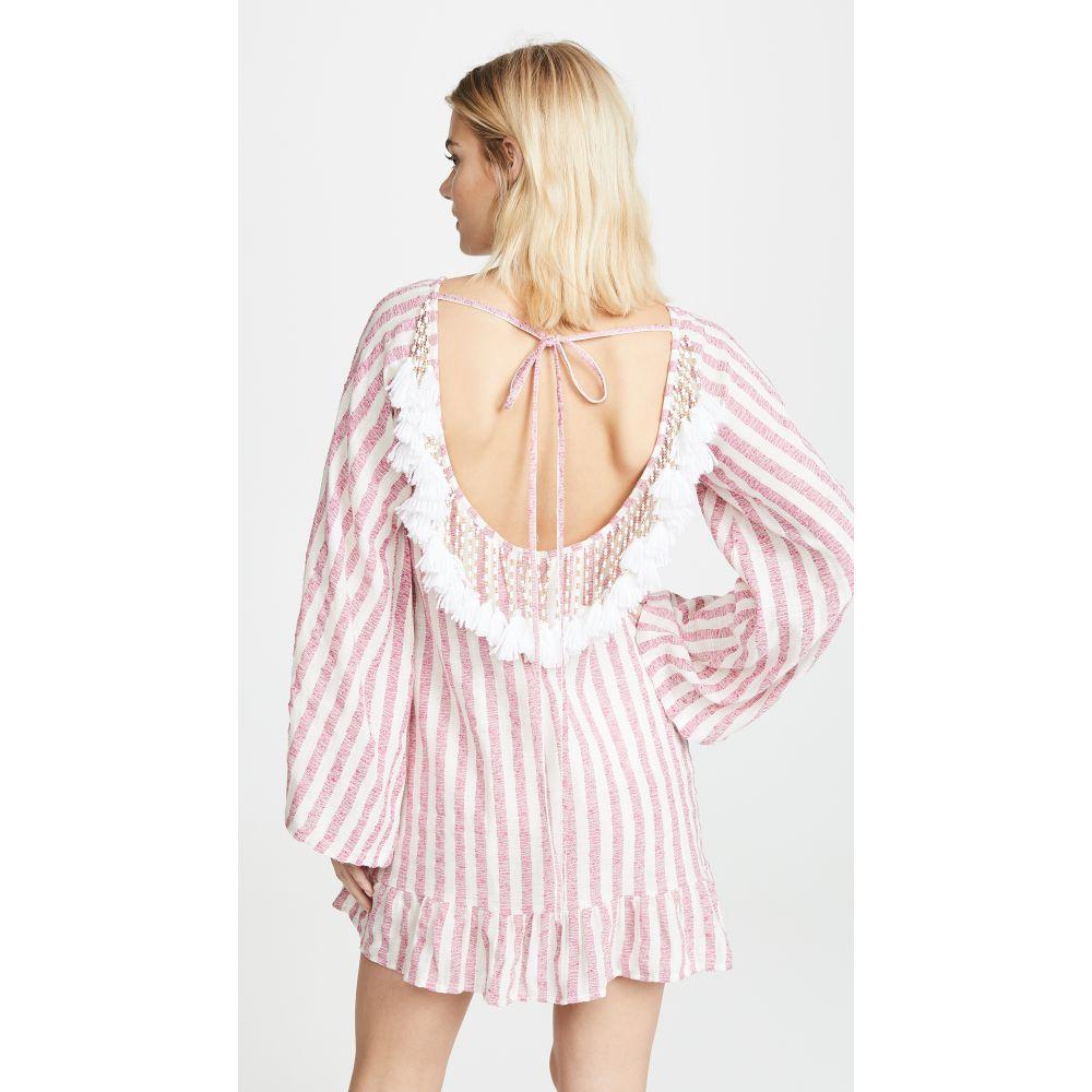 サンドレス SUNDRESS レディース 水着・ビーチウェア ビーチウェア【Indiana Cover Up Dress】Portofino Pink/White