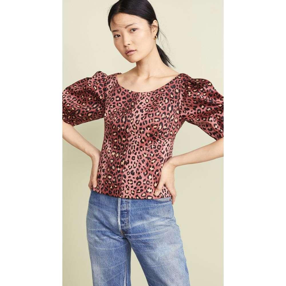 レベッカ テイラー Rebecca Taylor レディース トップス ブラウス・シャツ【Short Sleeve Leopard Top】Henna