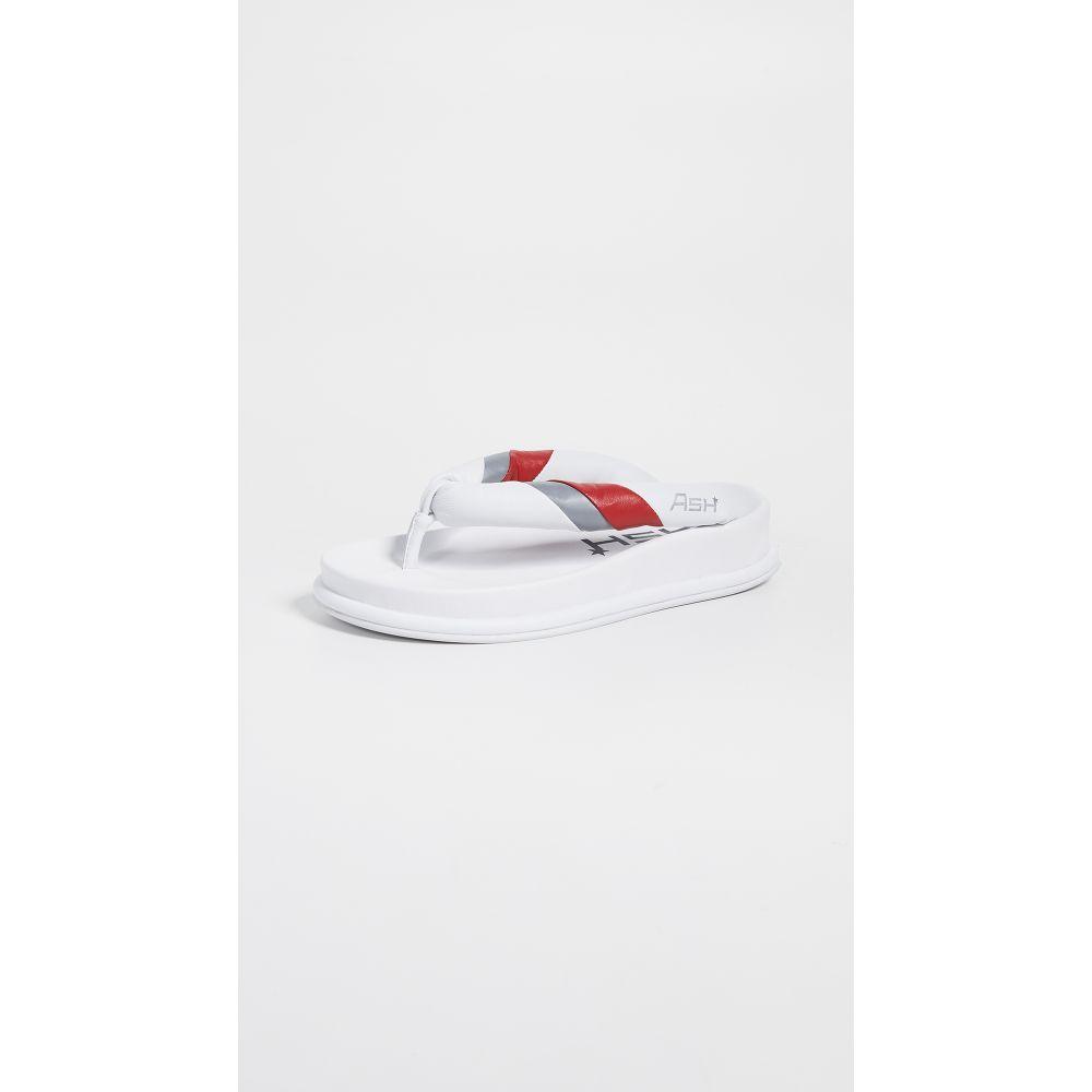 アッシュ Ash レディース シューズ・靴 ビーチサンダル【Tonic Flip Flops】White/Lipstick/Silver