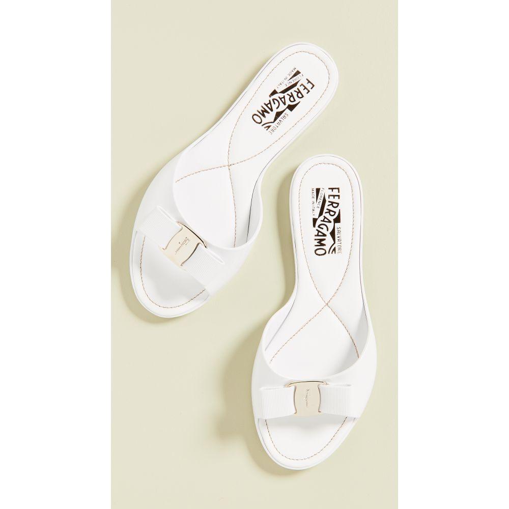 サルヴァトーレ フェラガモ Salvatore Ferragamo レディース シューズ・靴 サンダル・ミュール【Cirella Slide】New Bianco