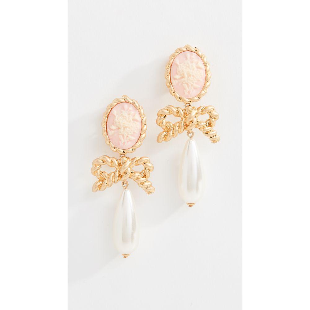 フォーラブアンドレモン For Love & Lemons レディース ジュエリー・アクセサリー イヤリング・ピアス【Cameo Imitation Pearl Drop Earrings】Vintage Gold