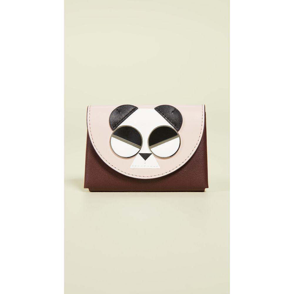 ケイト スペード Kate Spade New York レディース カードケース・名刺入れ【Gentle Panda Card Case】Roasted Fig