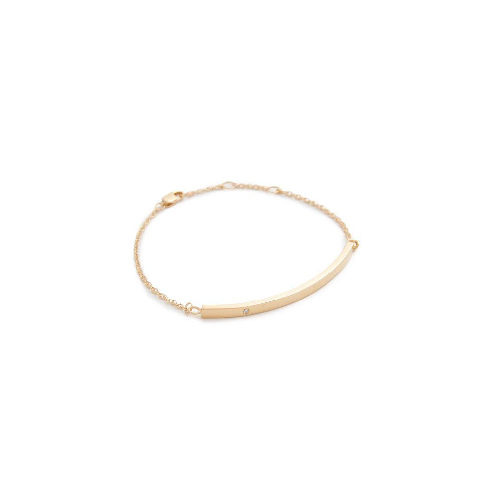 ジェニファーズーナー Jennifer Zeuner Jewelry レディース ジュエリー・アクセサリー ブレスレット【Horizontal Bar Bracelet with Diamond】Yellow Gold