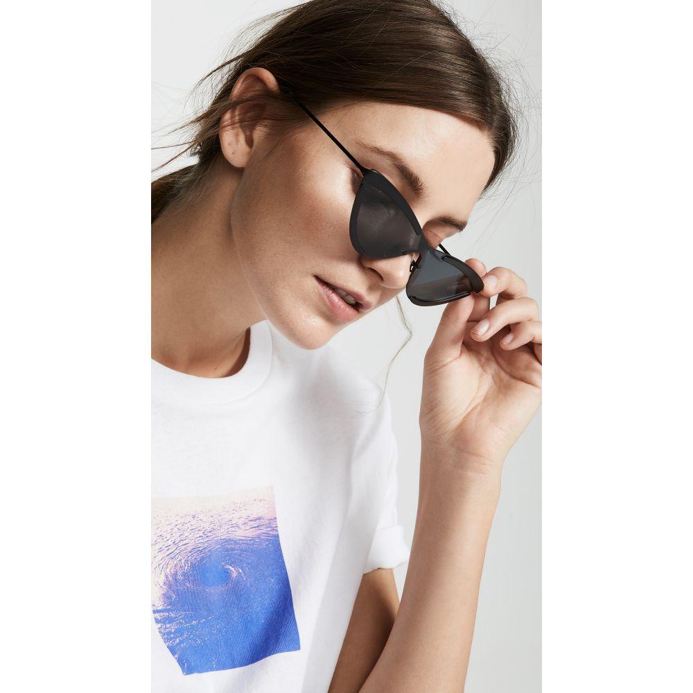 アダム セルマン Adam Selman Sport レディース メガネ・サングラス【The Scandal Sunglasses】Satin Black