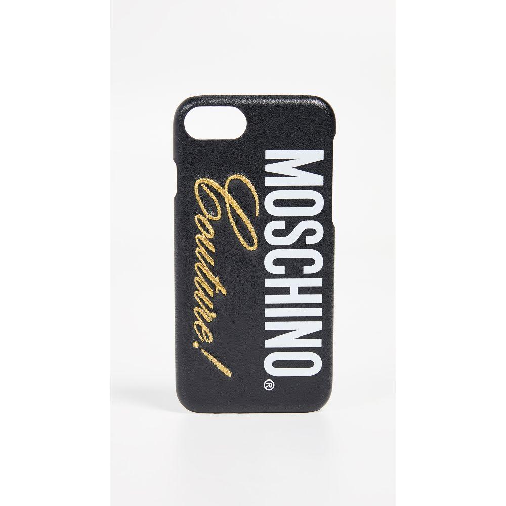 モスキーノ Moschino レディース iPhone (8)ケース【Couture! iPhone 7 / 8 Case】Fantasy Print Black
