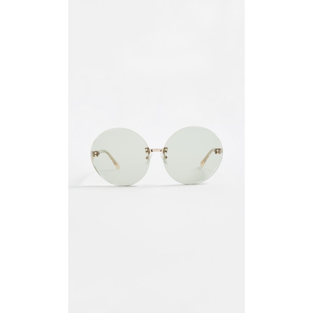 ヌメロ ヴェントゥーノ No. 21 レディース メガネ・サングラス【Oversized Round Sunglasses】Gold/Green