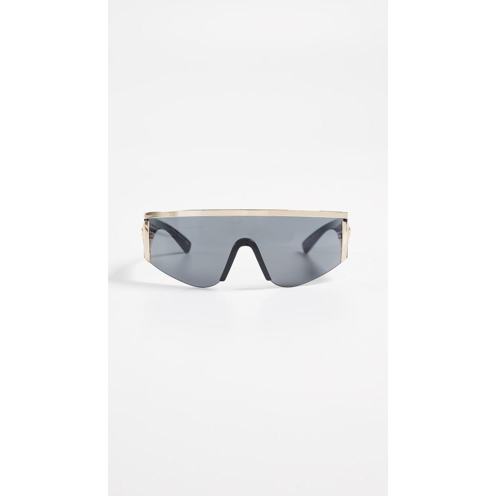 ヴェルサーチ Versace レディース メガネ・サングラス【Shield Sunglasses】Gold/Grey