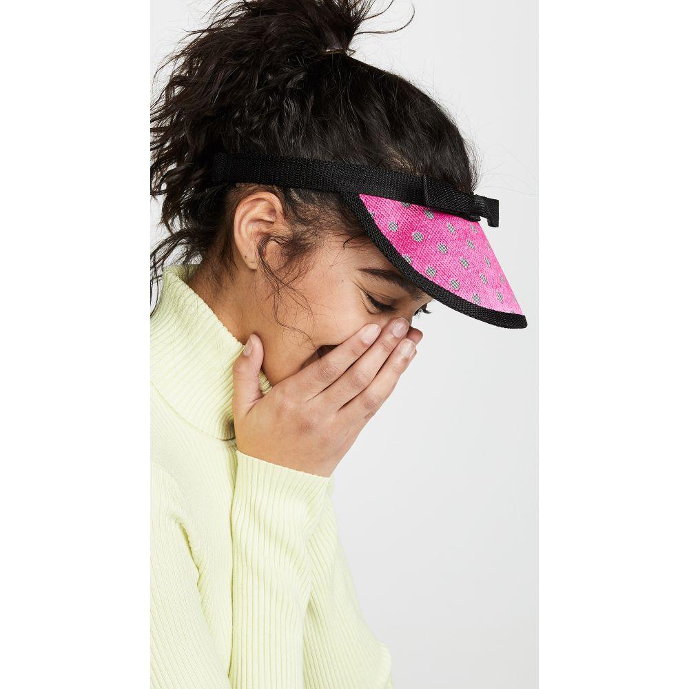 バーンストック スピアーズ Bernstock Speirs レディース 帽子 サンバイザー【Polka Dot Visor】Pink