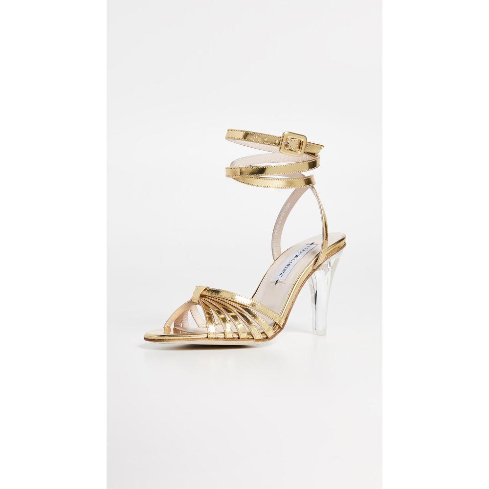 レアンドラ・メディーン Leandra Medine レディース シューズ・靴 サンダル・ミュール【Caged Heeled Sandals】Gold