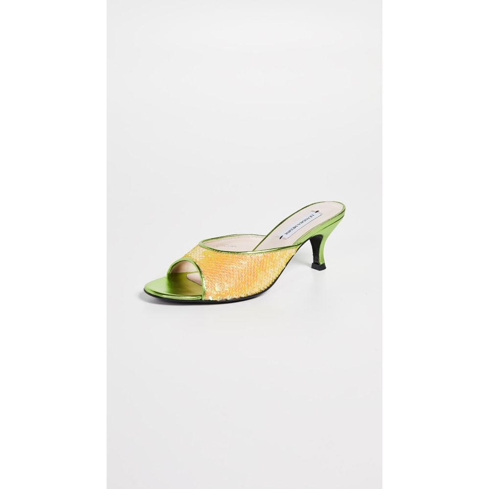 レアンドラ・メディーン Leandra Medine レディース シューズ・靴 サンダル・ミュール【Floret Sequin Mules】Multicolor