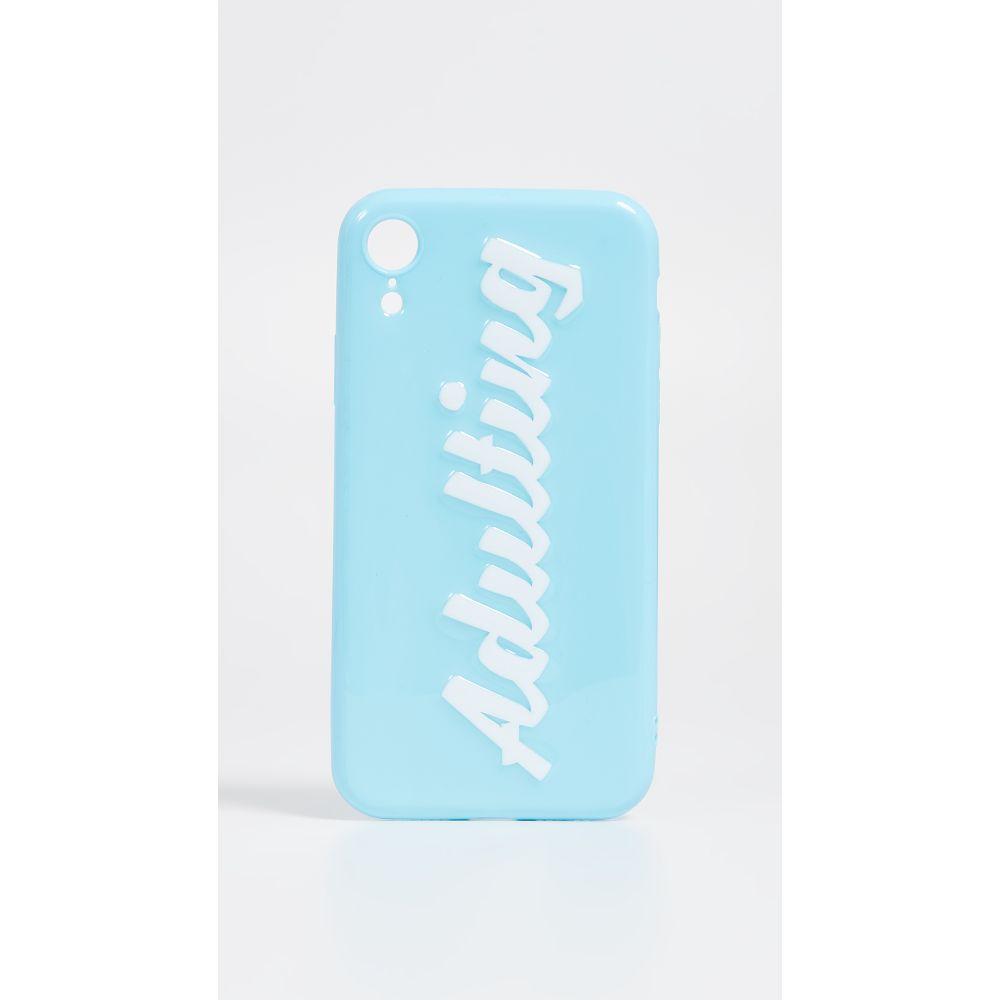 オフマイケース Off My Case レディース iPhoneケース【Adulting iPhone Case】Light Blue/White