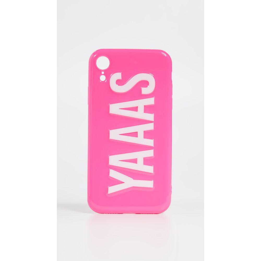 オフマイケース Off My Case レディース iPhoneケース【YAAAS iPhone Case】Hot Pink/White
