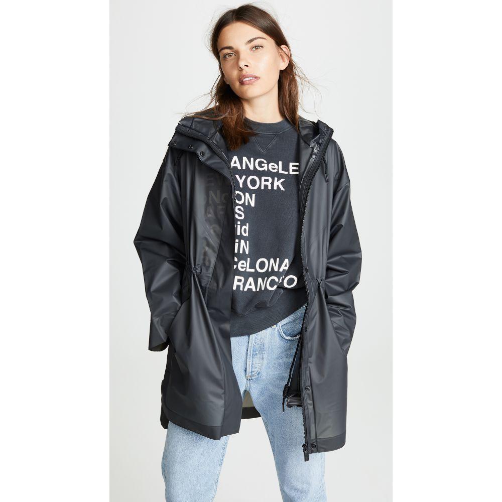 ハンター Hunter Boots レディース アウター レインコート【Vinyl Oversized Raincoat】Black