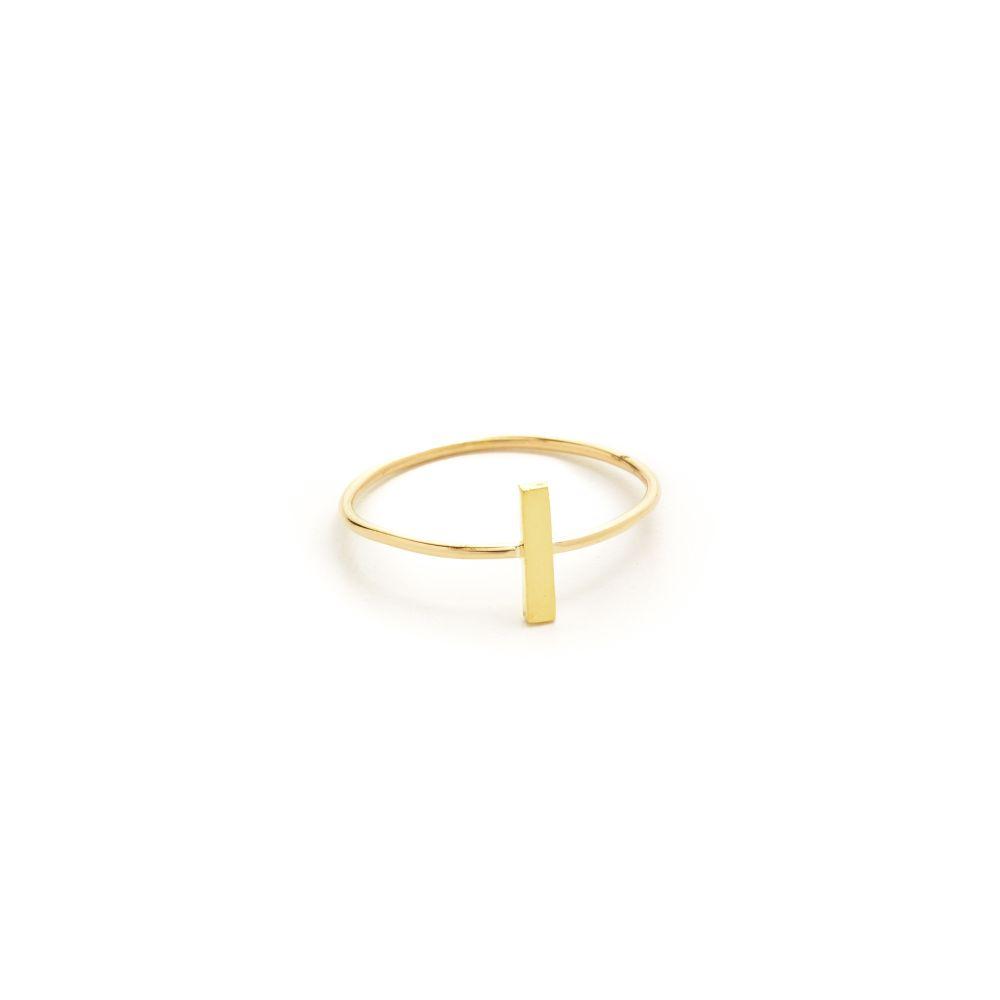 ジェニファーメイヤー Jennifer Meyer Jewelry レディース ジュエリー・アクセサリー 指輪・リング【18k Gold Bar Ring】Gold