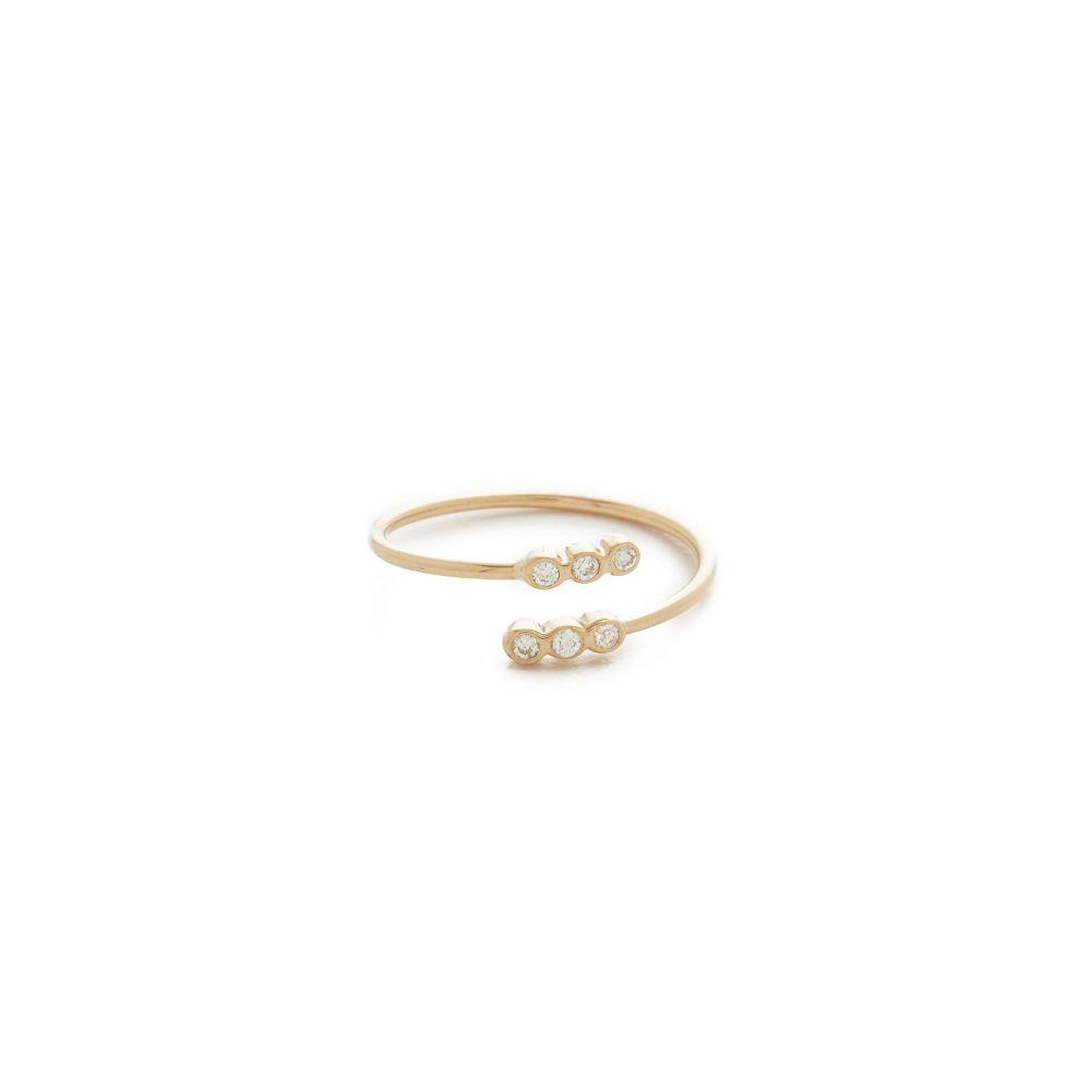 ゾーイ チコ Zoe Chicco レディース ジュエリー・アクセサリー 指輪・リング【Bezel Diamonds Pinky Ring】Gold/Clear