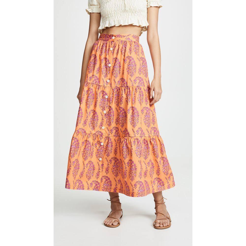 エムディーエス ストライプ MDS Stripes レディース スカート【Tiered Button Front Skirt】Pink Paisley