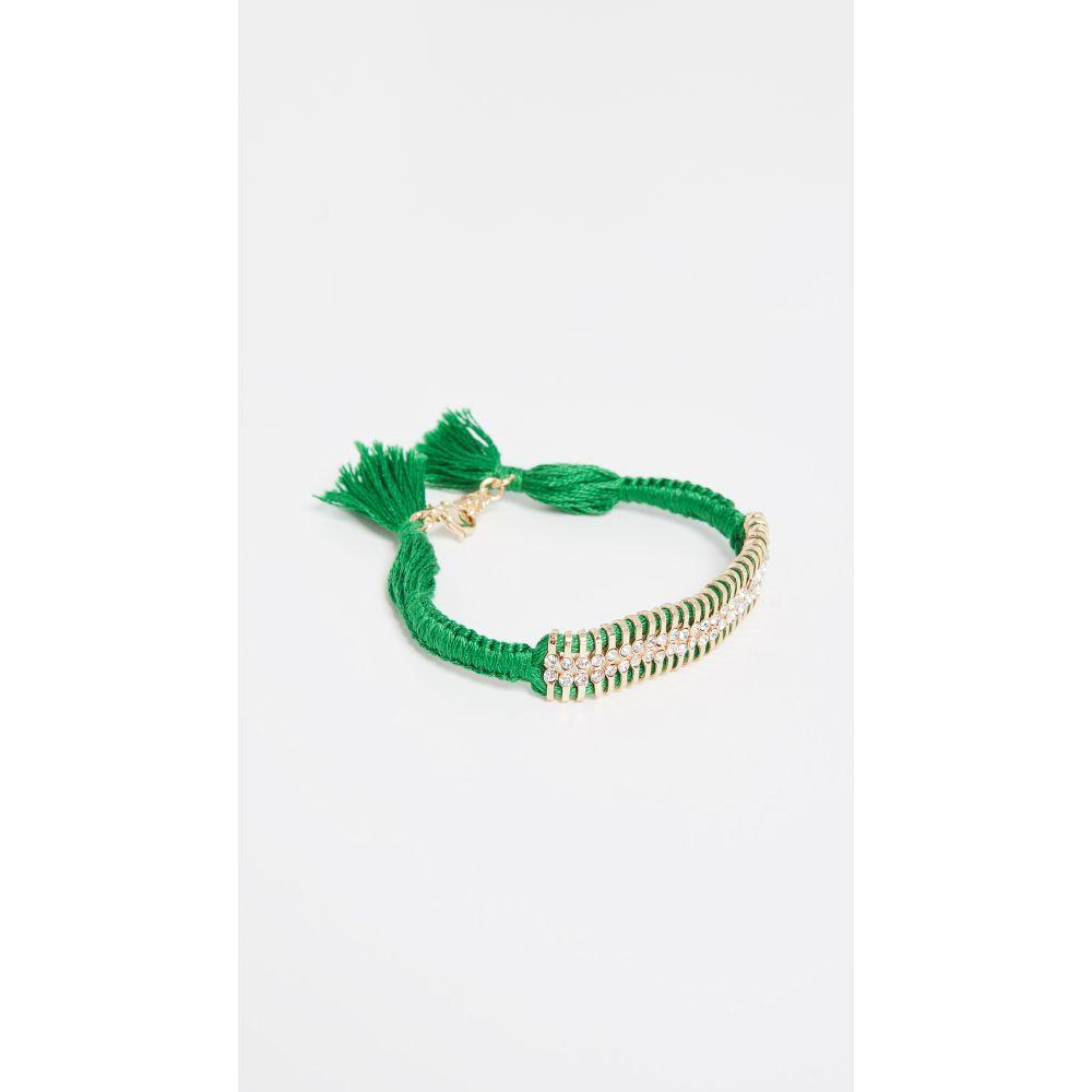 シャシ Shashi レディース ジュエリー・アクセサリー ブレスレット【Delicate 2 Row Bracelet】Green