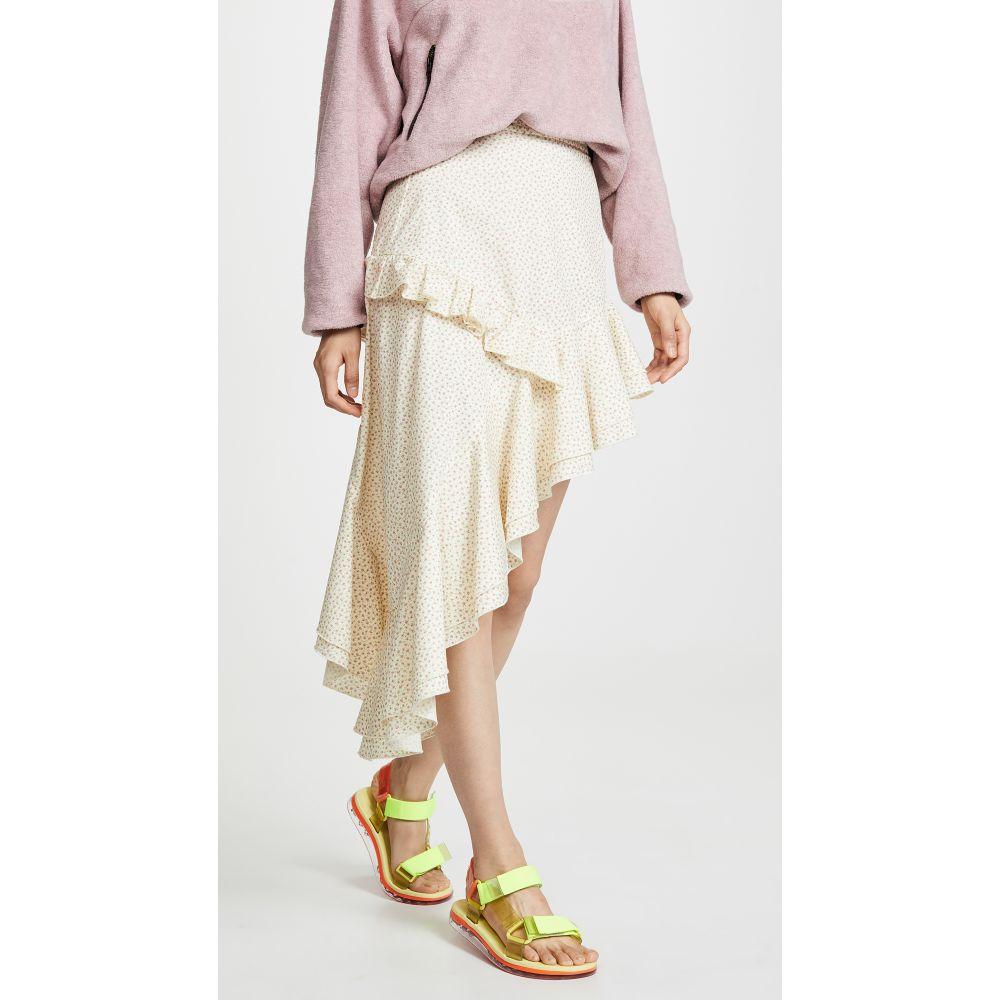 サンディー リアン Sandy Liang レディース スカート ひざ丈スカート【Chet Skirt】Lil Floral Ecru