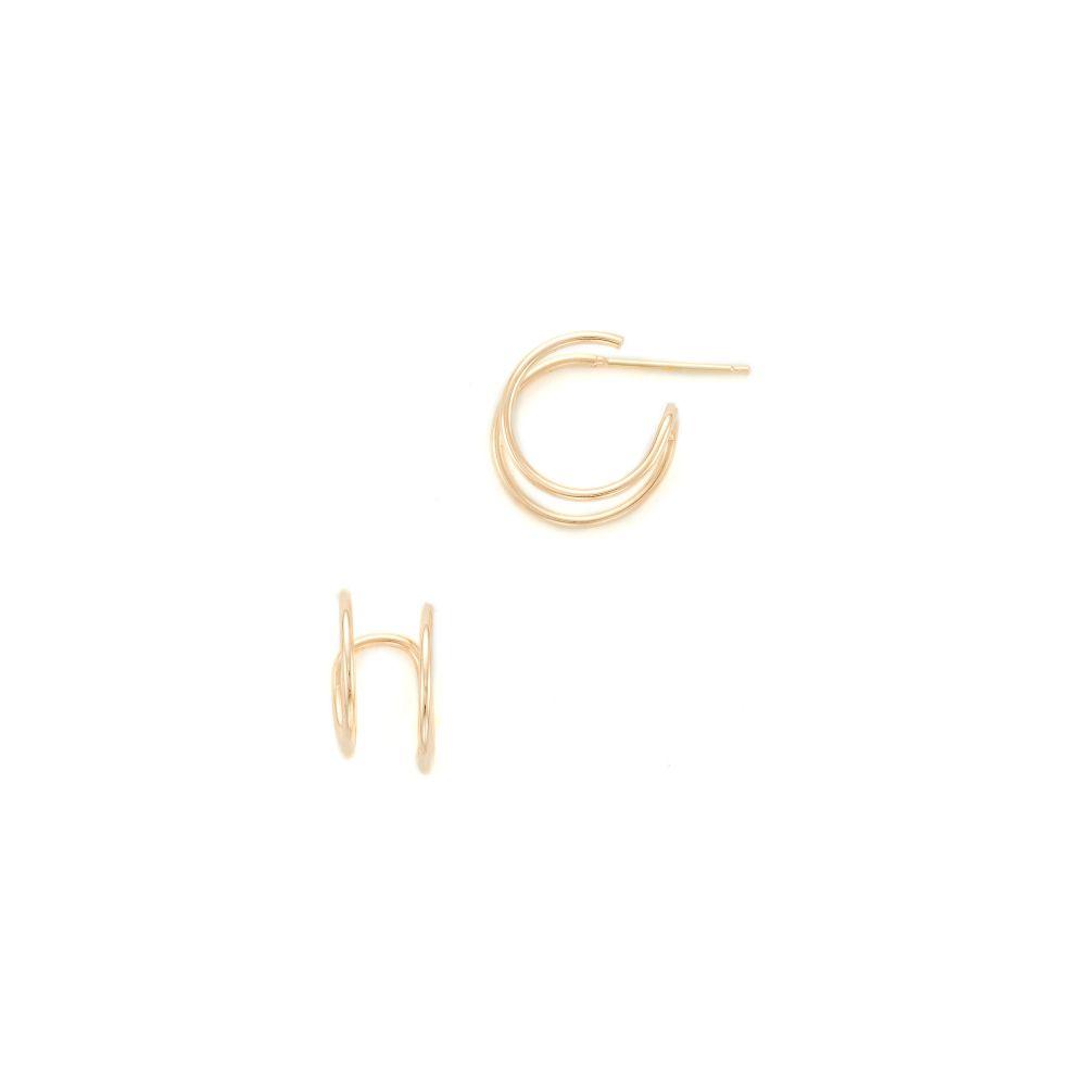 ゾーイ チコ Zoe Chicco レディース ジュエリー・アクセサリー イヤリング・ピアス【14k Gold Double Huggie Earrings】Yellow Gold
