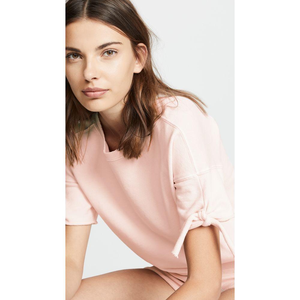 アモ AMO レディース トップス スウェット・トレーナー【Tie Short Sleeve Sweatshirt】Pale Pink