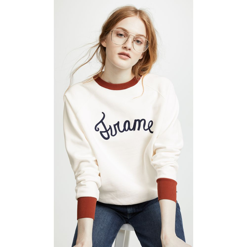 フレーム FRAME レディース トップス スウェット・トレーナー【Old School Sweatshirt】Off White Multi