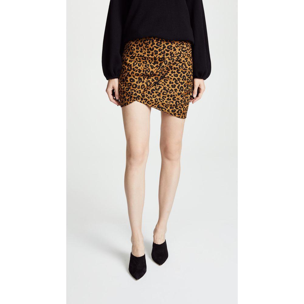 ミシェル メイソン Michelle Mason レディース スカート ミニスカート【Gathered Mini Skirt】Tan Leopard