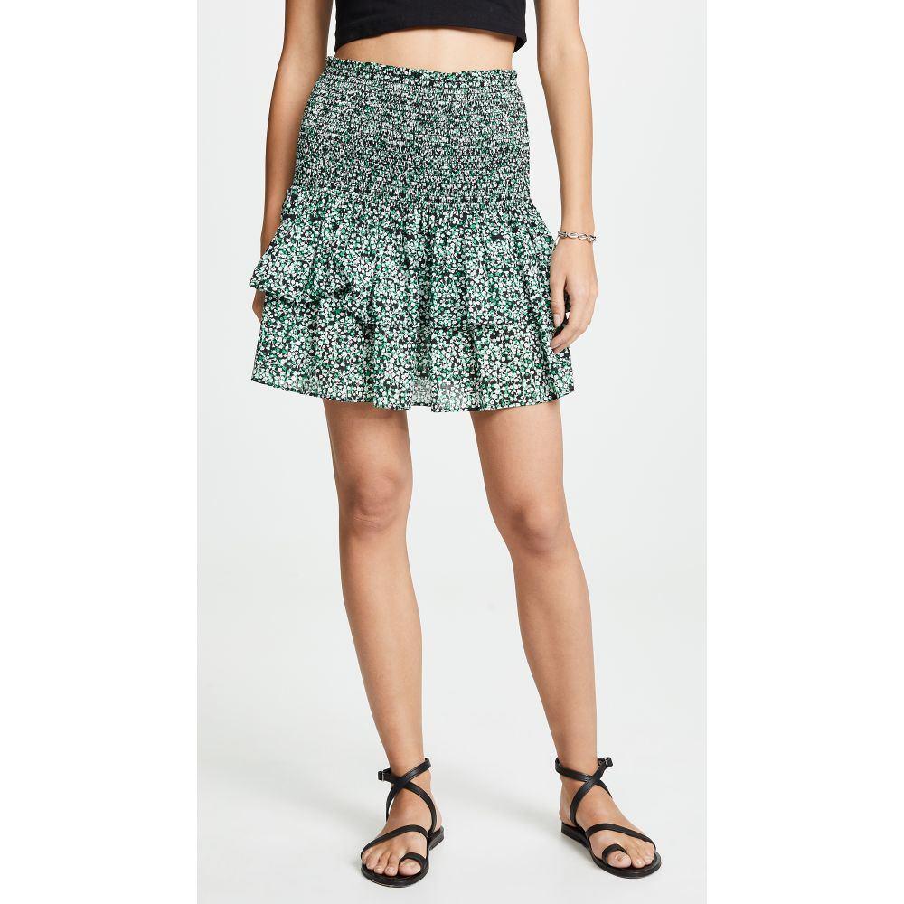 レベッカ ミンコフ Rebecca Minkoff レディース スカート ミニスカート【Amari Skirt】Green Multi