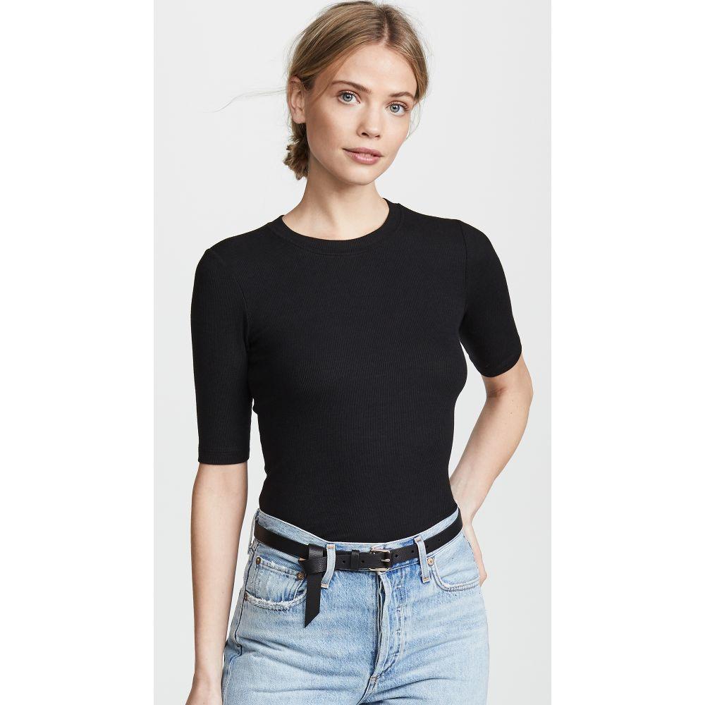 ゴルディー Goldie レディース トップス 長袖Tシャツ【Ribbed Elbow Sleeve T-Shirt】Black