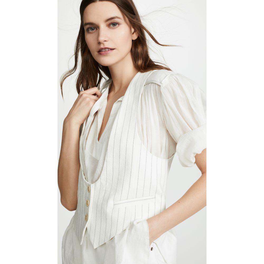 フィロソフィ ディ ロレンツォ セラフィニ Philosophy di Lorenzo Serafini レディース トップス ベスト・ジレ【Pinstripe Waistcoat】White