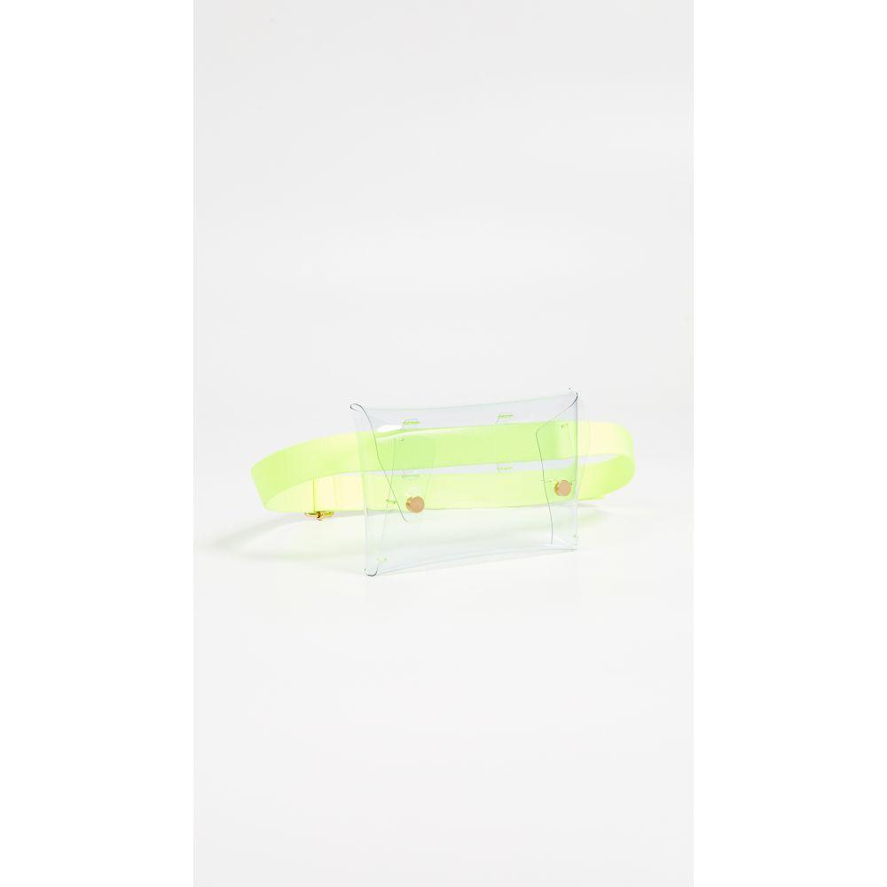 メゾン ボワネ Maison Boinet レディース バッグ ボディバッグ・ウエストポーチ【Medium Pocket Belt Bag】Fluo Yellow