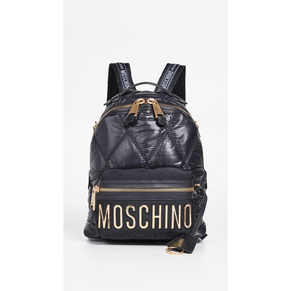 モスキーノ Moschino レディース バッグ バックパック・リュック【Quilted Backpack】Fantasy Print Black