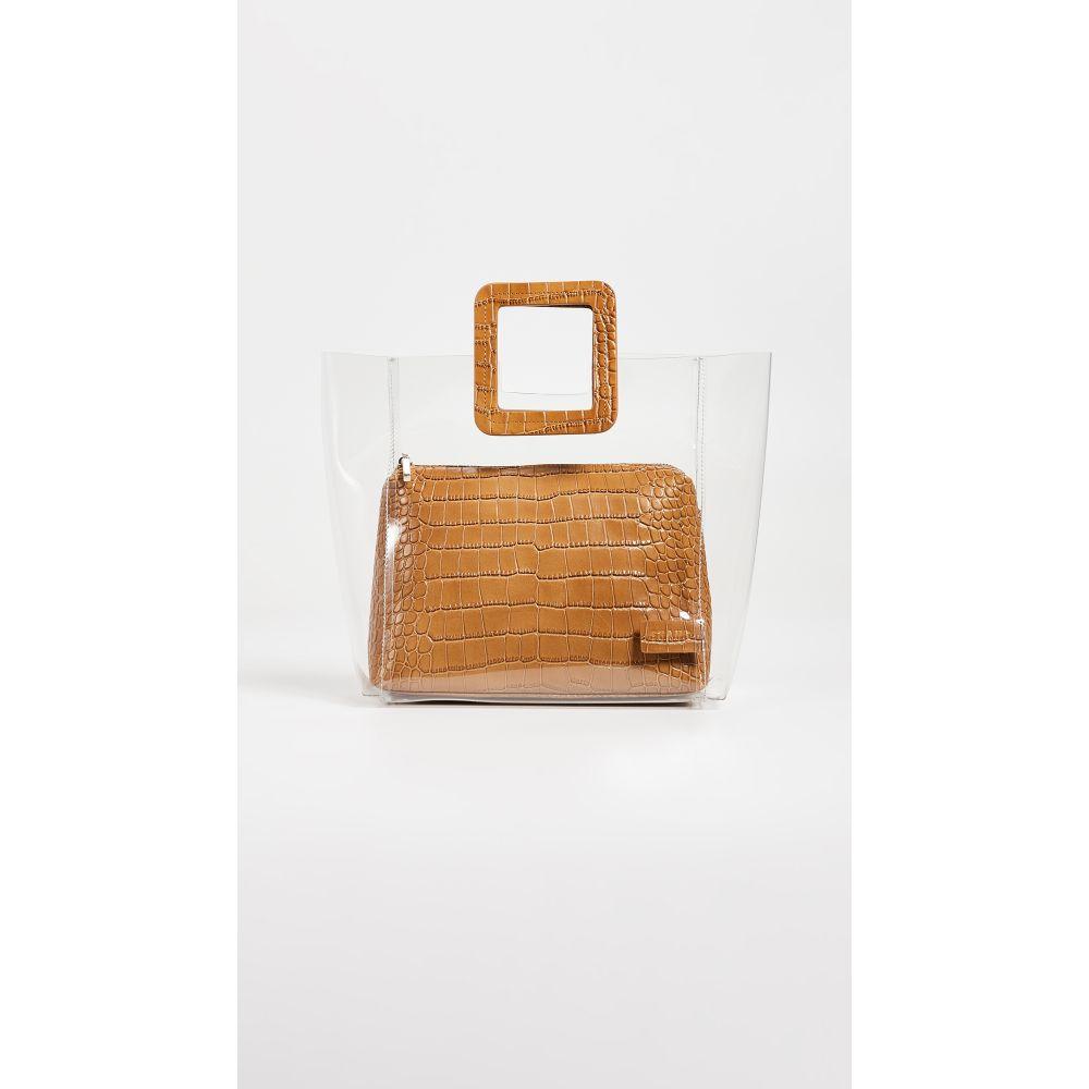 スタッド STAUD レディース バッグ ハンドバッグ Clear【Shirley Bag】Tan スタッド Croc STAUD/PVC Clear, アーバンタイヤプロデュース:3c3b5437 --- sunward.msk.ru