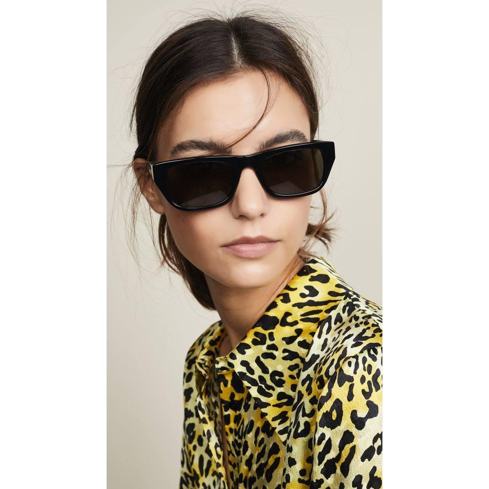クルー Krewe レディース メガネ・サングラス【Tulsa Sunglasses】Black Front with Silver