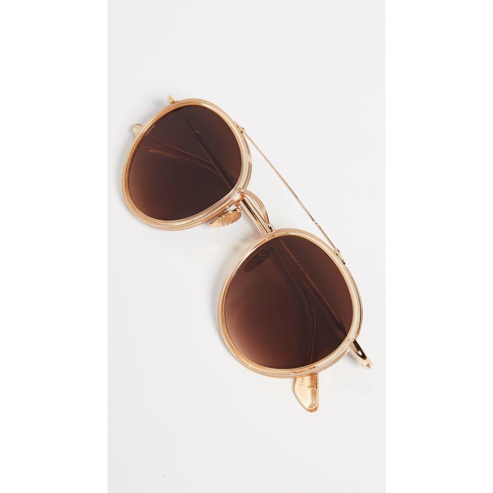クルー Krewe レディース メガネ・サングラス【Poydras Sunglasses】24k Titanium & Champagne