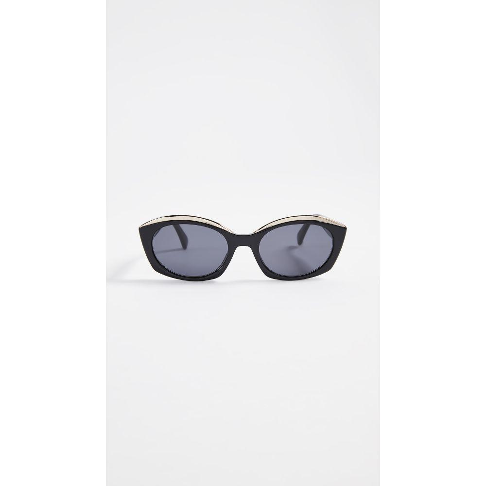 モスキーノ Moschino レディース メガネ・サングラス【Narrow Round Sunglasses】Black