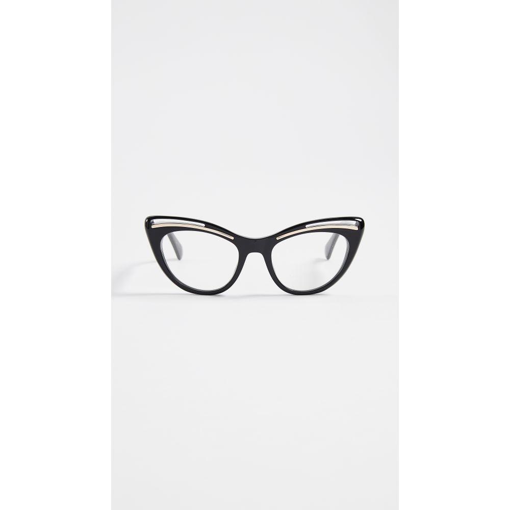 モスキーノ Moschino レディース メガネ・サングラス【Cat Eye Glasses】Black Gold