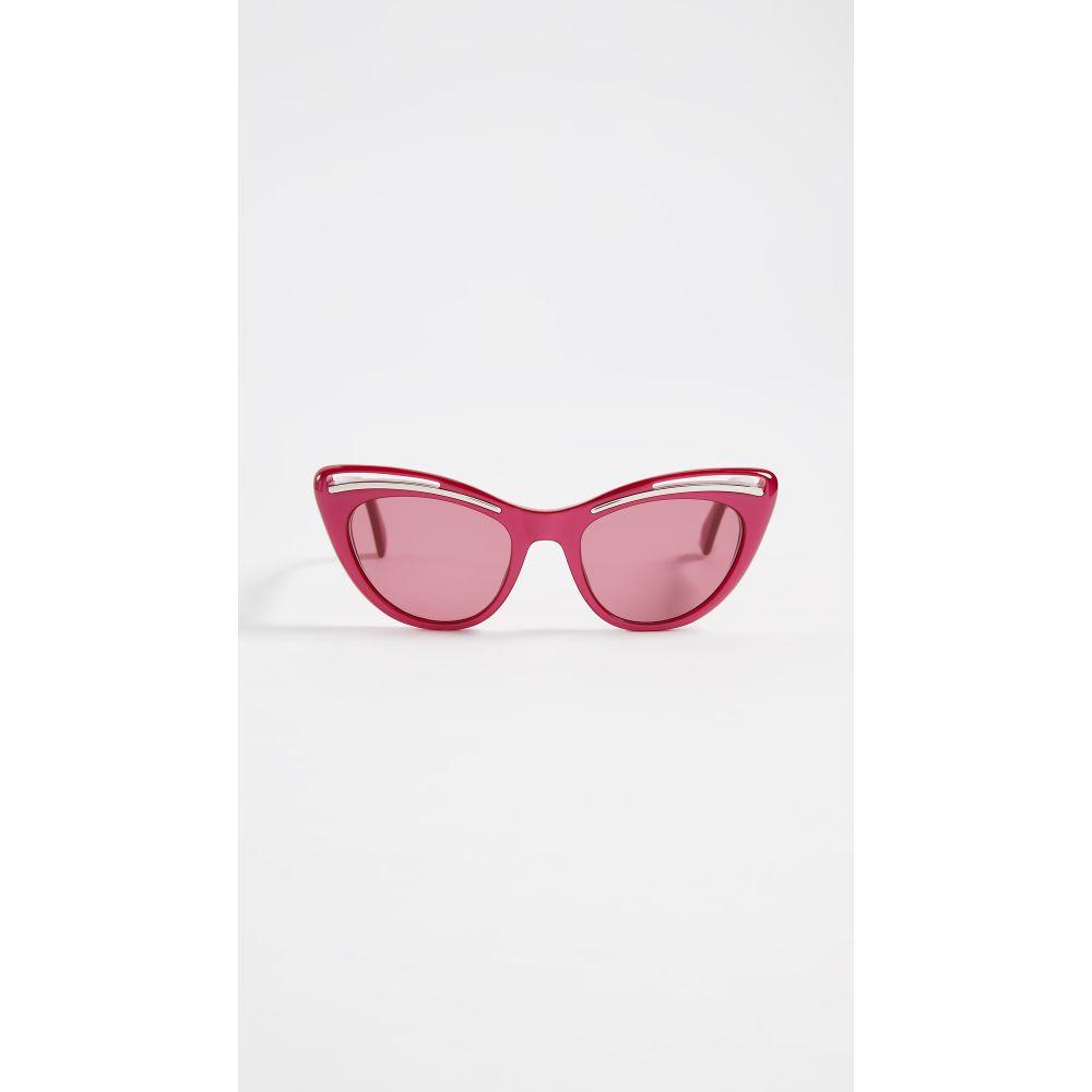 モスキーノ Moschino レディース メガネ・サングラス【Cat Eye Sunglasses】Fuschia