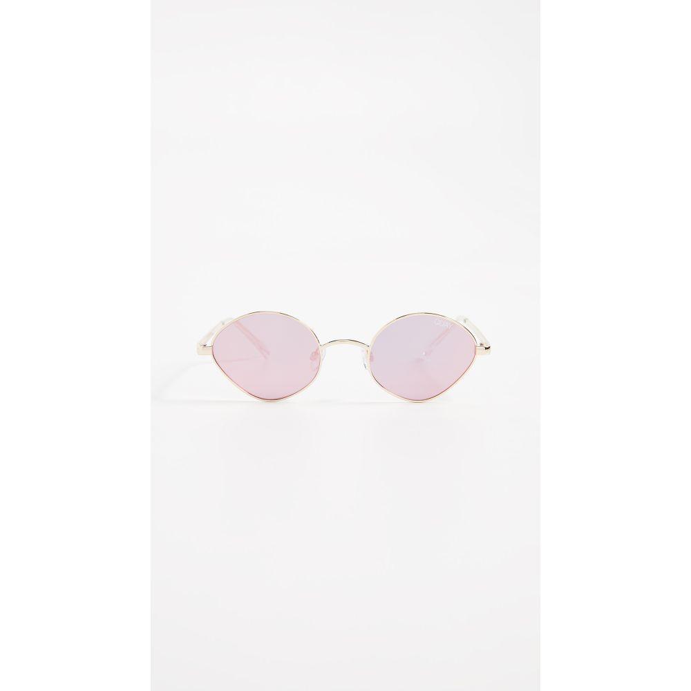 キー Quay レディース メガネ・サングラス【Wild Night Sunglasses】Gold/Pink
