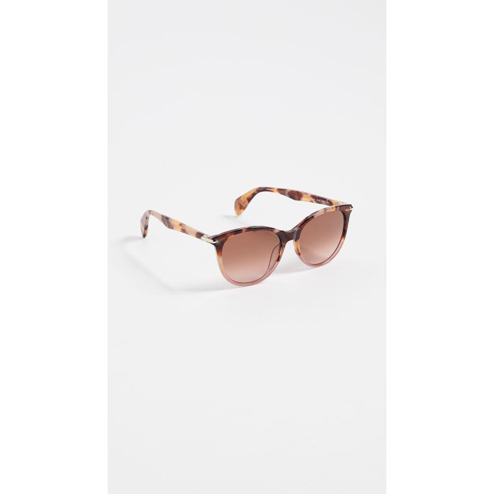 ラグ&ボーン Rag & Bone レディース メガネ・サングラス【Round Acetate Sunglasses】Pink Havana