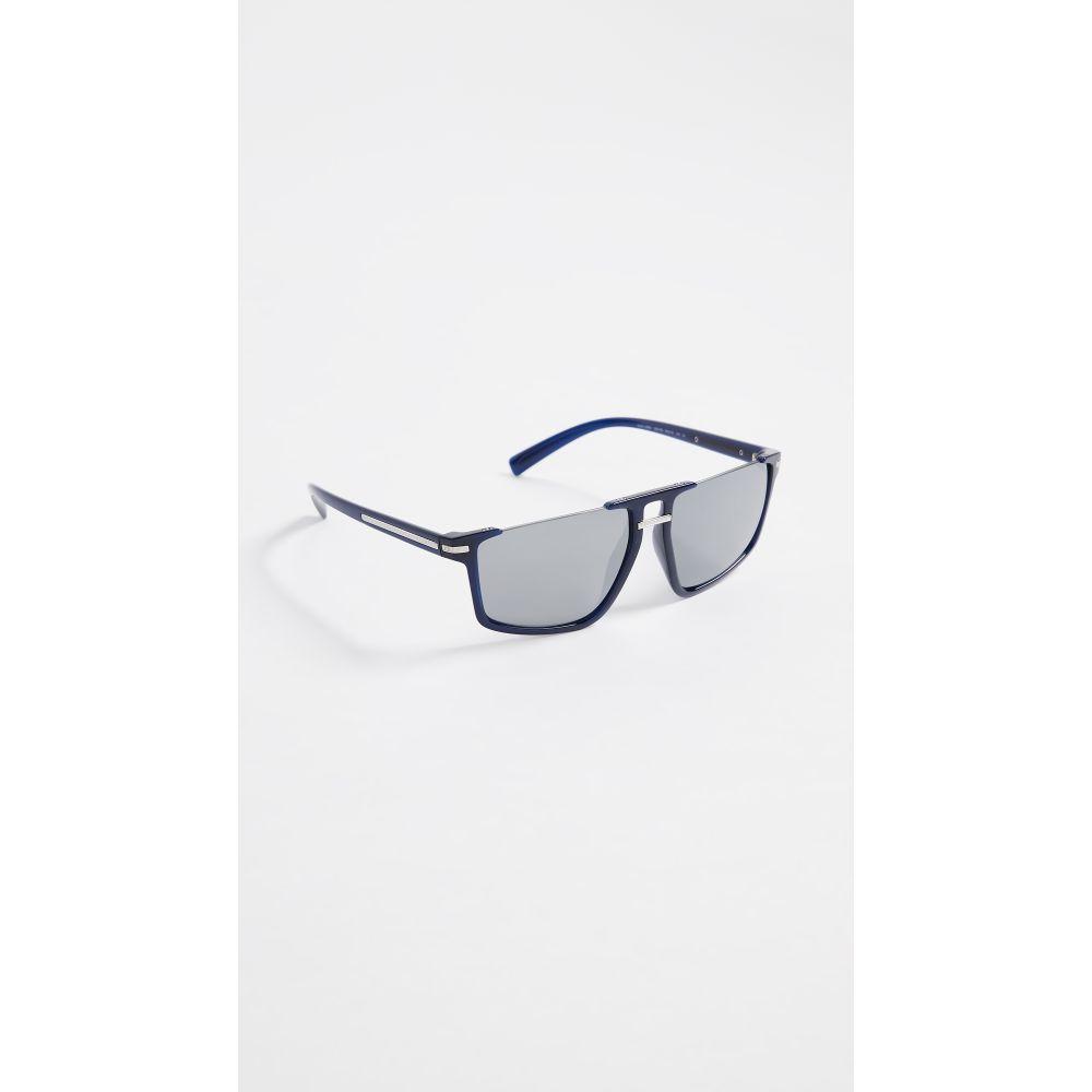 ヴェルサーチ Versace レディース メガネ・サングラス【VE4363 Rimless Flat Top Sunglasses】Blue