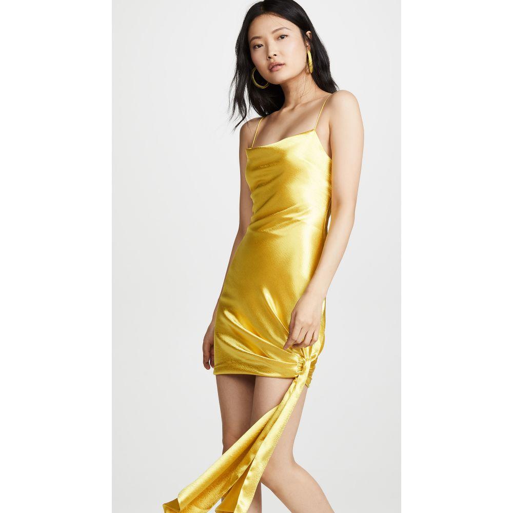 サンク ア セプト Cinq a Sept レディース ワンピース・ドレス ワンピース【Satin Ryder Dress】Lemon Yellow