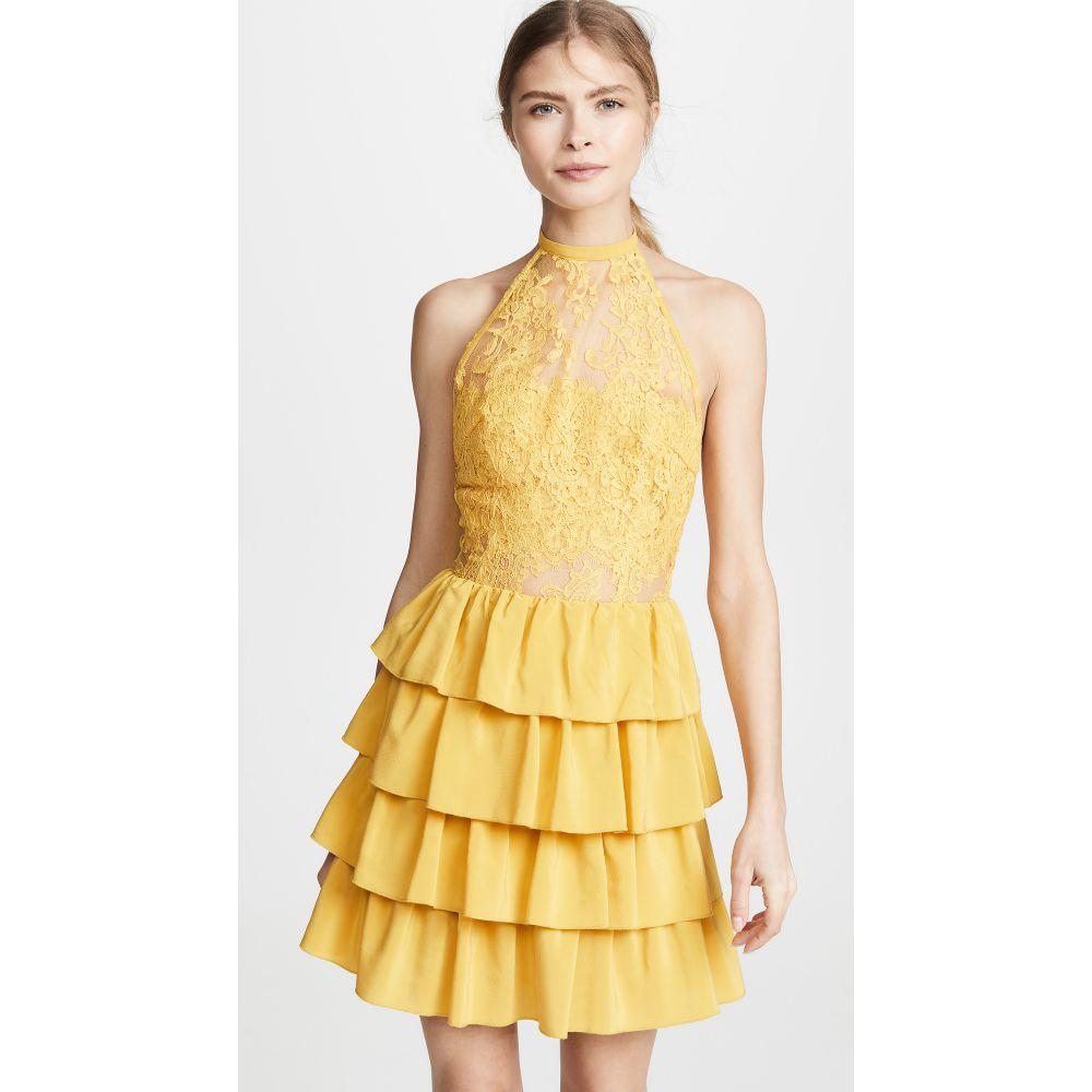 イヴァヘルツォグ Ewa Herzog レディース ワンピース・ドレス ワンピース【Halter Neck Lace Dress】Pale Yellow