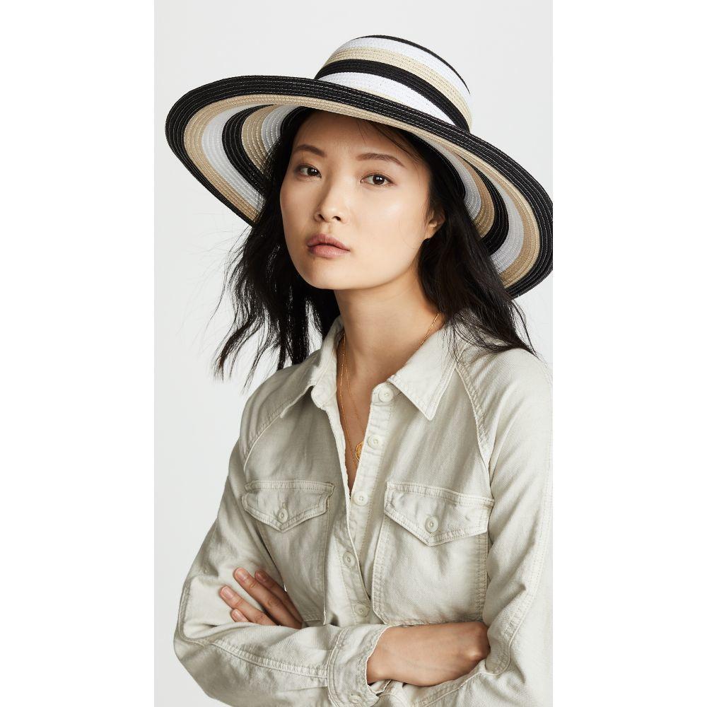 ケイト スペード Kate Spade New York レディース 帽子 ハット【Stripe Sunhat】Black