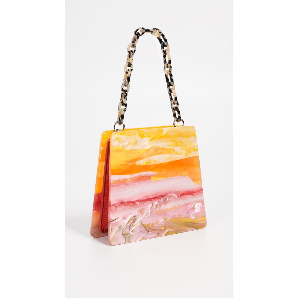 エディー パーカー Edie Parker レディース バッグ【Abstract Sunset Hardshell Bag】Pink Multi