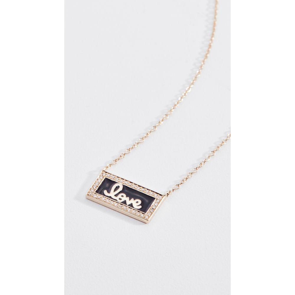 シドニーエヴァン Sydney Evan レディース ジュエリー・アクセサリー ネックレス【14k Love Script Bar Necklace】Black/Gold