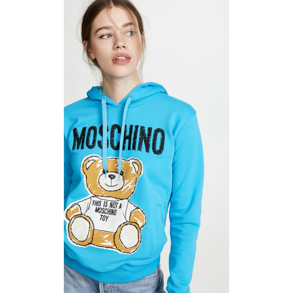 モスキーノ Moschino レディース トップス パーカー【Bear Hoodie】Blue