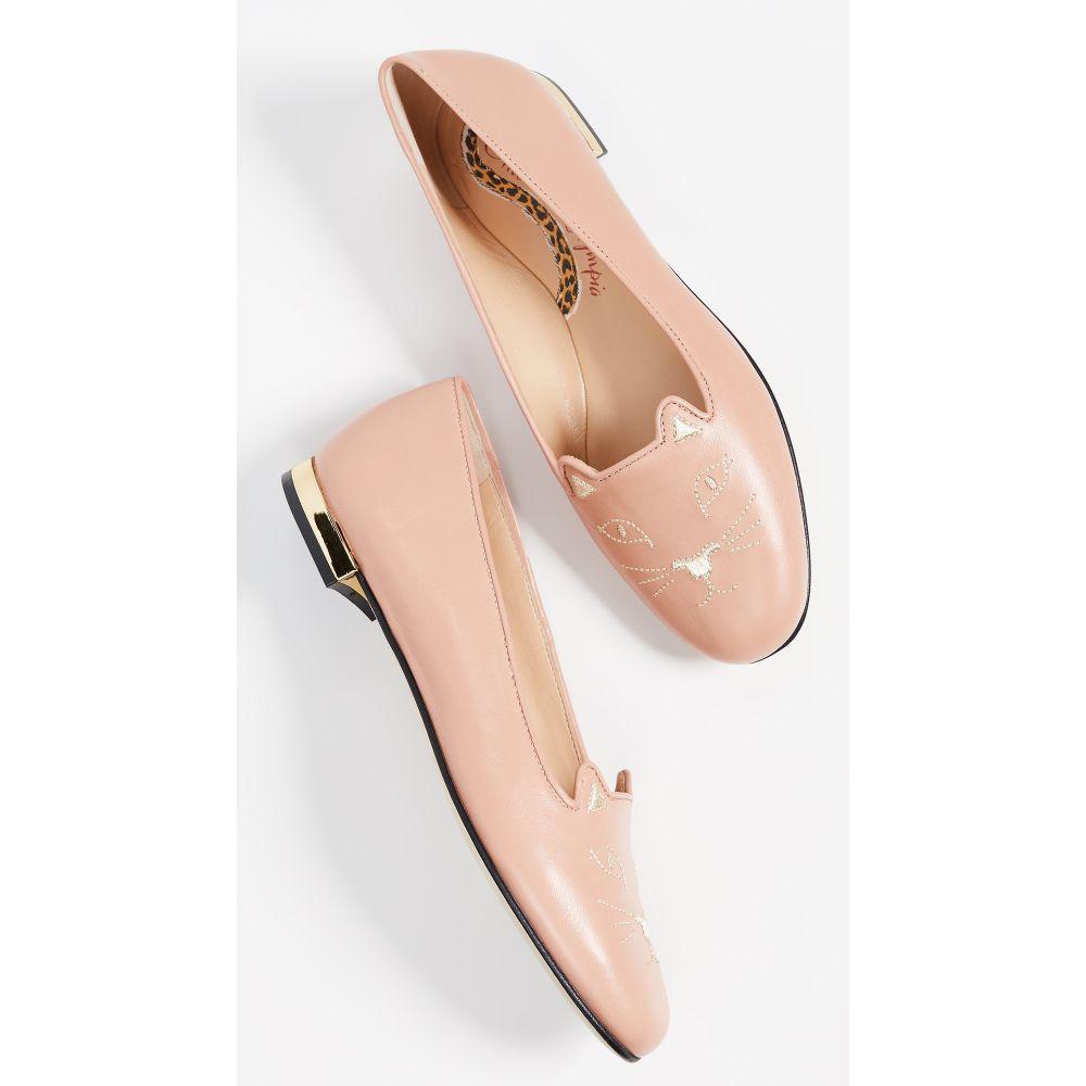 シャーロット オリンピア Charlotte Olympia レディース シューズ・靴 ローファー・オックスフォード【Kitty Flats】Dusky Pink
